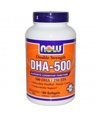 Now Foods, DHA-500, Double Strength, 180 Softgels