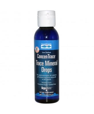 Trace Minerals Research, Liquimins, ConcenTrace, Trace Mineral Drops, 4 fl oz (118 ml)