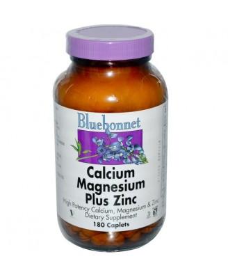 Calcium Magnesium Plus Zinc (180 caplet) - Bluebonnet Nutrition