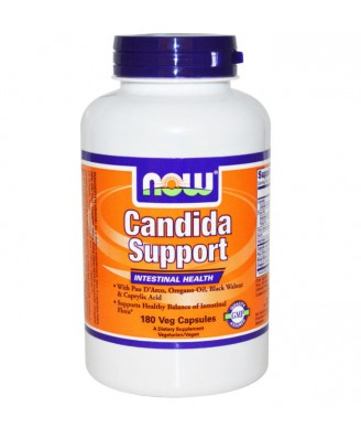 Now Foods, Candida Support, de santé intestinale, 180 Veggie Caps