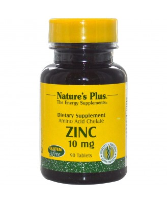 Zinc, 10 mg (90 Tablets) - Nature's Plus