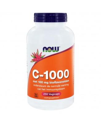 C-1000 Caps met 100 mg bioflavonoïden (250 capsules) - Now Foods