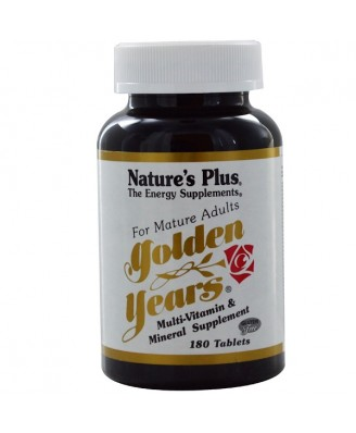 GOLDEN YEARS MULTI-VITAMIN & MINERAL SUPPLEMENT (180 TABLETS) - NATURE'S PLUS