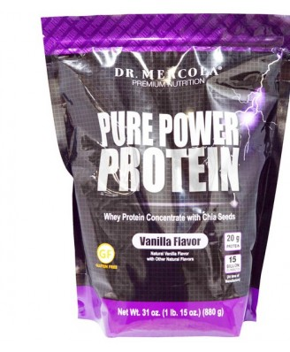 Dr. Mercola, Pure Power Protein, Vanilla Flavor, 31 oz (880 g)