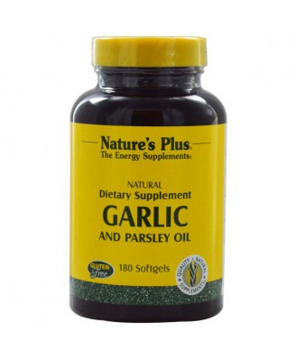 Garlic and Parsley Oil (180 Softgels) - Nature's Plus