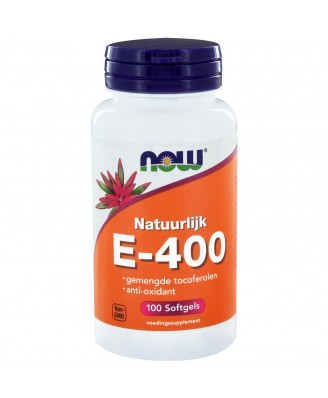E-400 gemengde tocoferolen (100 softgels) - NOW Foods