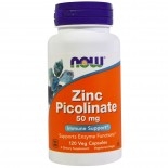 Zinc Picolinate 50 mg (120 Veggie Capsules) - Now Foods