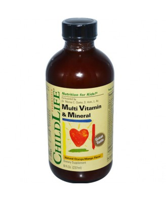 ChildLife Essentials, Multi vitamine & minérale saveur Orange/mangue naturel (237 ml)