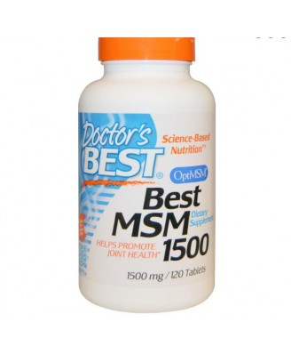 Doctor's Best, Best MSM, 1500 mg, 120 Tablets