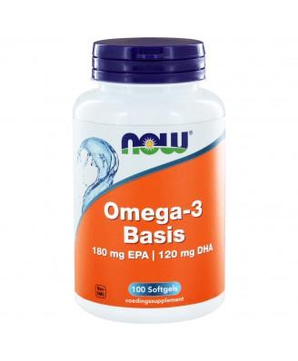 Omega-3 Basis 180 mg EPA 120 mg DHA  (100 softgels) - NOW Foods