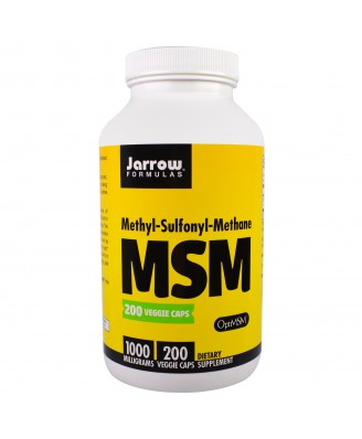 MSM Methyl-Sulfonyl-Methane 1000 mg (200 Veggie Caps) - Jarrow Formulas