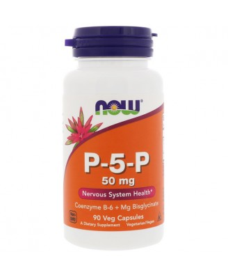P-5-P- 50 mg (90 Vegetarian Capsules) - Now Foods