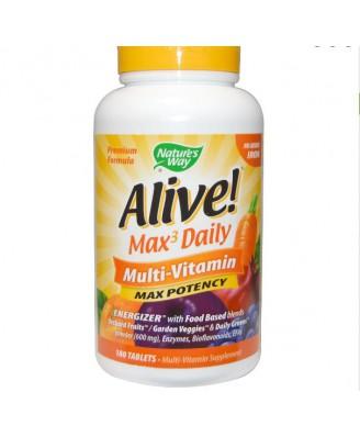 Alive! Whole Food Energizer Multivitamine Zonder Toegevoegd IJzer - Nature's Way (180 Tabletten)