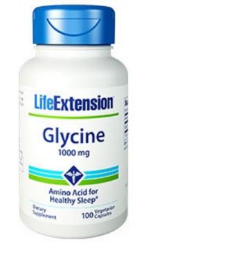 glycine 1000mg - 100 végétariens capsules - Life Extension