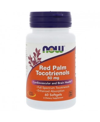 Red Palm Tocotrienols 50 mg (60 softgels) - Now Foods