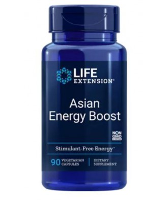Solution Energisante Asiatique - 90 Capsules Végétales - Life Extension