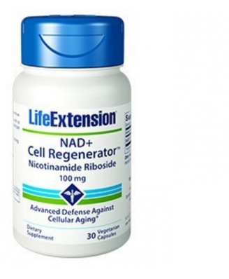 Nad+ Cell Regenerator™ Nicotinamide Riboside, Regénérateur Cellulaire, 100 Mg 30 Gélules - Life Extension
