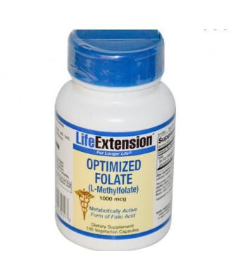 Vitamine B - Geoptimaliseerd Foliumzuur (L-Methylfolate), 1000 mcg (100 Veggie Caps) - Life Extension