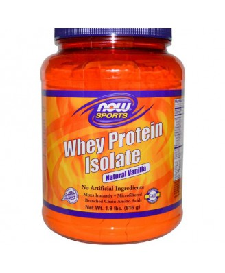 Now Foods, Sports, Whey Protein Isolate, Powder, Natural Vanilla, 1.8 lbs (816 g)