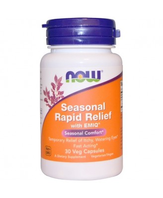 Seasonal Rapid Relief With EMIQ (30 Vegetarian Capsules) - Now Foods