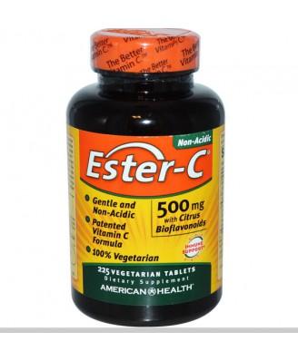 American Health, Ester-C 500 mg avec bioflavonoïdes d'agrumes, 225 Veggie Tabs
