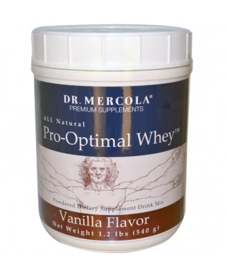 Dr. Mercola, Pro-Optimal Whey, Vanilla Flavor, 1.2 lbs (540 g)