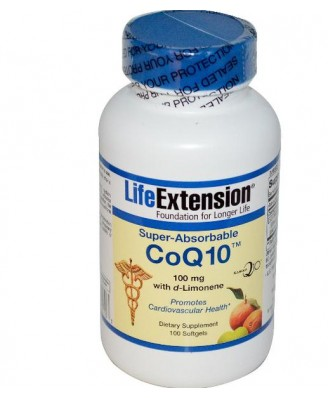Life Extension, CoQ10 Super-Absorbable with D-Limonene, 100 mg, 100 Softgels