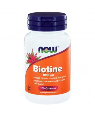 Biotine 1000 μg (100 capsules) - Now Foods