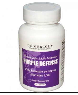 Dr. Mercola, Purple Defense, Premium Water Soluble Antioxidant, 30 Capsules