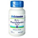 D, L-phénylalanine Capsules  500mg - 100 capsules végétariennes - Life Extension