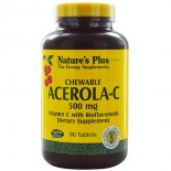 Chewable Acerola-C Vitamin C with Bioflavonoids 500 mg (90 Tablets) - Nature's Plus