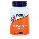 D-Mannose 500 mg (120 vegicaps) - NOW Foods