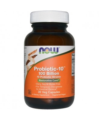 Probiotic 10 - 100 Billion (30 Vegetarian Capsules) - Now Foods