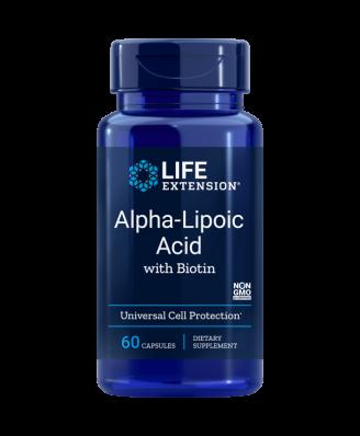 Alpha-Lipoique Super Avec Biotine 250 mg - 60 Gélules - Life Extension