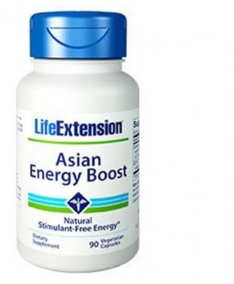 Solution Energisante Asiatique - 90 Capsules Végétales - Life Extension