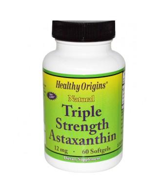 Astaxanthin 12 mg (60 Softgels) - Healthy Origins