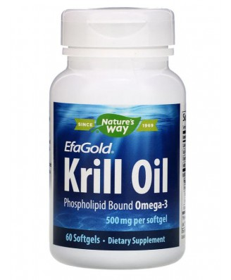 EFAGOLD KRILL OLIE 500 MG (60 GELCAPSULES) - NATURE'S WAY