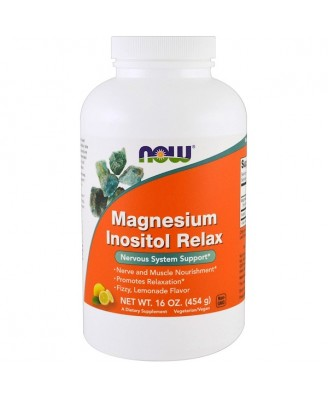 Magnesium Inositol Relax- Lemonade (454 gram) - Now Foods