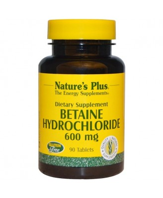 Betaine Hydrochloride - 600 mg (90 Tablets) - Nature's Plus