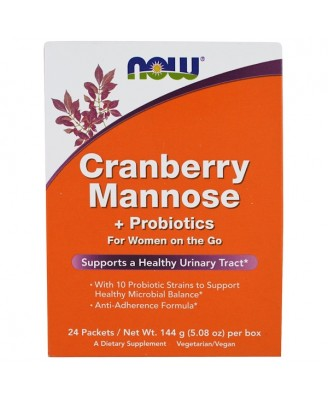 Cranberry Mannose + Probiotics (24 Packets (6 g) Each ) - Now Foods