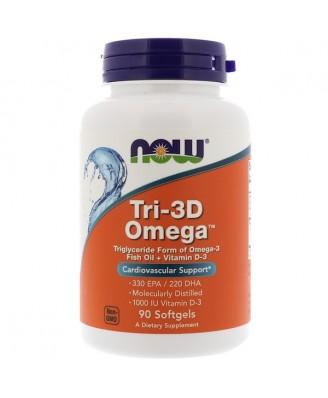 Tri-3D Omega 330 EPA/220 DHA (90 softgels) - Now Foods