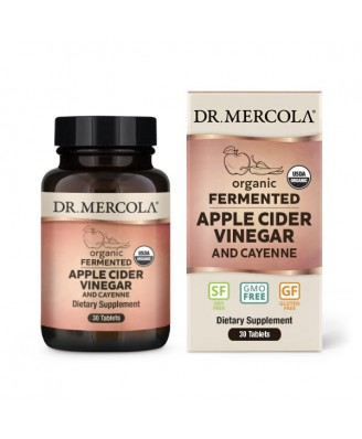 Organic Fermented Apple Cider Vinegar and Cayenne 30 Tablets - Dr Mercola