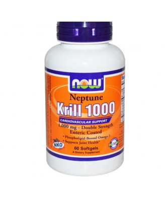 Neptune Krill Olie 1000mg (60 Softgels) - Now Foods