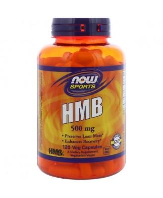 Sports - HMB 500 mg (120 Vegetarian Capsules) - Now Foods