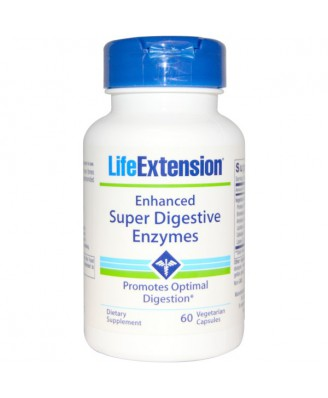 Enhanced Super Digestive Enzymes (60 Veggie Capsules) - Life Extension
