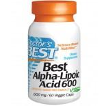 Doctor's Best, Best acide Alpha-lipoïque, 600 mg, 60 capsules végé