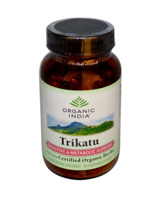Organic India, Trikatu, Digestive & Metabolic Support, 90 Veggie Caps