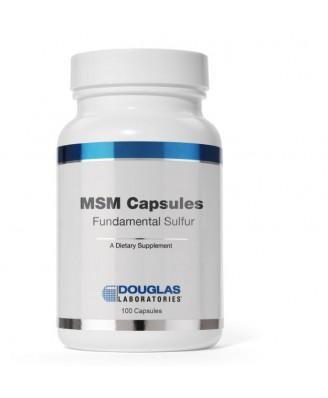 Fondamentaux de Capsules MSM soufre (90 capsules) - Douglas Laboratories