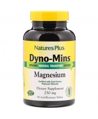 Dyno-Mins Magnesium 250 mg (90 Tablets) - Nature's Plus