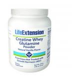 Poudre de créatine lactosérum glutamine (vanille) - 454 grammes - Life Extension